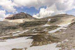 Eine Ansicht von Piz Boe dolomites Italien stockbilder