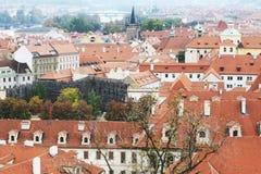 Eine Ansicht von Prag-Schloss, 2017 lizenzfreie stockbilder