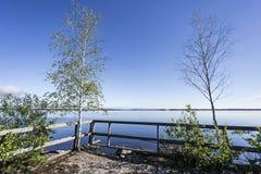 Eine Ansicht von Saimaa See, Finnland Stockfotografie