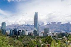 Eine Ansicht von Santiago-Stadt im Paprika lizenzfreies stockfoto