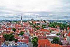 Eine Ansicht von Tallinn-Mitte Stockbilder