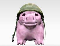Rosa piggy möchte Aufträge erteilen stock abbildung