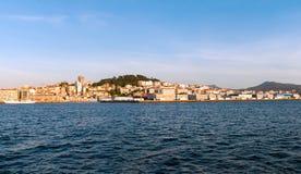 Eine Ansicht von Vigo vom Meer Lizenzfreie Stockfotografie