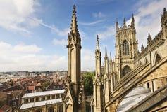 Eine Ansicht von York vom York-Münster Stockfoto
