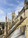 Eine Ansicht von York vom York-Münster Stockfotos
