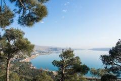 Eine Ansicht zu Tiflis-Reservoir Lizenzfreie Stockfotografie