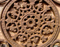 Eine antike Metallrosette Lizenzfreies Stockbild