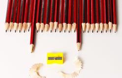 Eine Anzeige einer Gruppe Bleistifte Lizenzfreie Stockfotos