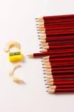 Eine Anzeige einer Gruppe Bleistifte Lizenzfreies Stockfoto