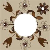 Eine attraktive Karte mit Blumen in den Brauntönen für congratul Stockbild