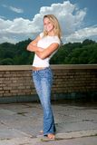 Eine Aufstellung des jungen Mädchens Stockfoto