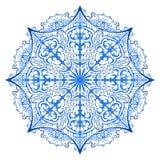 Eine aufwändige Schneeflocke Auch im corel abgehobenen Betrag Verzierung bea vektor abbildung