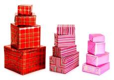 Eine Auswahl der bunten Geschenke lizenzfreie stockbilder