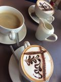 Eine Auswahl von Kaffee Stockbild