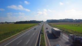 Eine Autobahn am etykietka, autostrada/ zbiory wideo