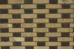 Eine Backsteinmauer für Muster und Hintergründe Stockbild
