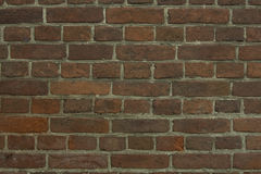 Eine Backsteinmauer für Muster und Hintergründe Lizenzfreie Stockfotografie