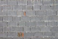 Eine Backsteinmauer hergestellt mit sterilisierter alter strukturierter Bauarbeit der Gasbeton-Maurerarbeit-Einheit Stockfotos