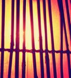 Eine Bambuslampe tonte mit einem Retro- Weinlese instagram Filtereffekt Lizenzfreies Stockfoto