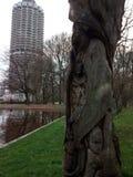 Eine Baum und Hotelturm royaltyfria foton