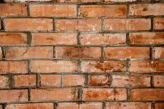 Eine befleckte Backsteinmauer Lizenzfreies Stockfoto