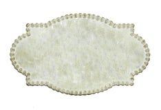 Eine benennende Karte der Weinlese getrennt auf Weiß Stockbilder