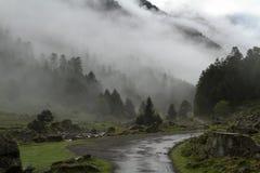 Eine Berglandschaft Stockbild