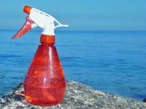 Eine Berieselungsanlage auf dem Seefelsen Lizenzfreie Stockfotografie
