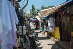 Eine beschäftigte Gasse in Philippinen Lizenzfreies Stockbild