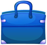Eine blaue Handtasche lizenzfreie abbildung