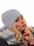 Eine blonde behaarte Frau Lizenzfreie Stockfotos