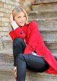 Eine blonde schöne Frau Lizenzfreies Stockfoto