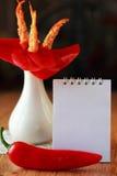 Eine Blume gemacht von einem Cayennepfeffer Lizenzfreie Stockfotos