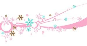 Eine Blumenauslegung-Fahne Stockbilder