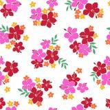 Eine Blumenmusterillustration des Hibiscus stock abbildung