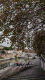 Eine Brücke über Tiber, Rom lizenzfreies stockfoto