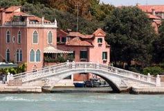 Eine Brücke von Venedig Stockbild