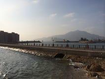 Eine Brücke, zum von Insel u. von x28 zu perlen; Hong Kong u. x29; Stockfotos