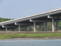 Eine Brücke zur Ruhe -- Hilton Head Island stockfotografie