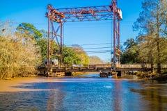Eine Breaux-Brücke in St. Martin Parish, Louisiana stockbild