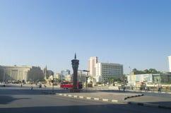 Eine breite Allee in der Hauptstadt von Ägypten Stockbilder