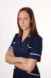 Eine britische Krankenschwester lizenzfreies stockbild