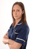 Eine britische Krankenschwester stockfoto