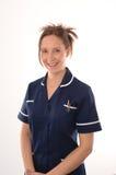 Eine britische Krankenschwester stockfotos