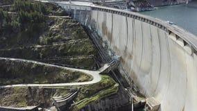 Eine Brummenansicht von Atazar-Reservoir, Madrid, Spanien stockbilder