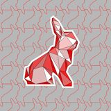 Eine bunte Illustration von poligonal Kaninchen stock abbildung