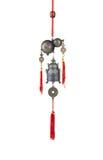 Eine Calabash- und Glockenwindzarge Stockfotos