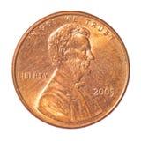 Eine Centmünze Lizenzfreies Stockbild