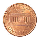 Eine Centmünze Stockfoto