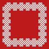 Eine chinesische Knotenrahmen-Vektorillustration Lizenzfreies Stockfoto